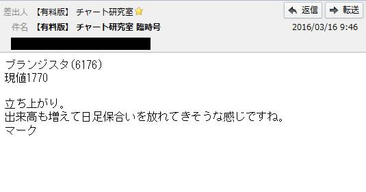 3月16日配信の有料メルマガ